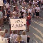 Vælfærdsalliancen demonstrerede mod nedskæringer
